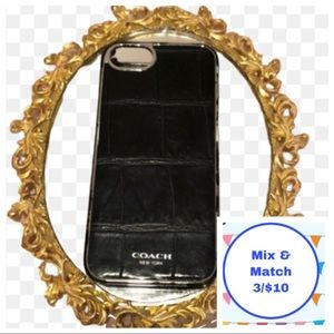3/$10‼️ COACH black leather iPhone 5s case